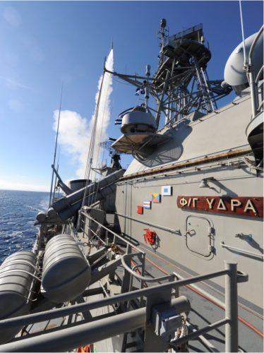 Figura 4: Lancio di missile dalla nave militare ellenica Hydra. Fonte: helleniknavy.gr.